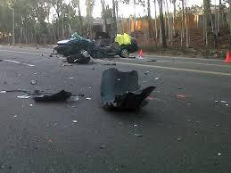 car accident debris